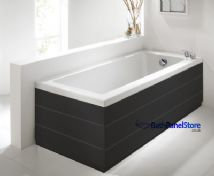 Planked Matt Black 2 Piece adjustable Bath Panels